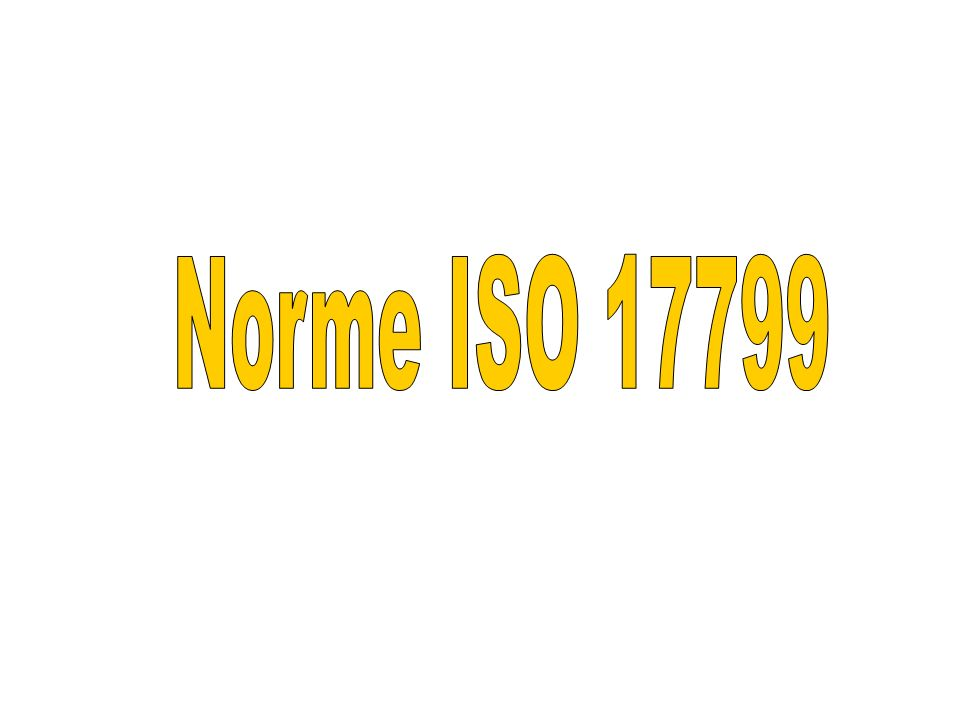 Norme ISO 17799