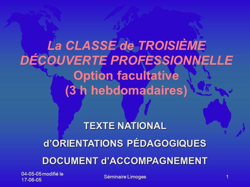 d'ORIENTATIONS PÉDAGOGIQUES DOCUMENT d'ACCOMPAGNEMENT