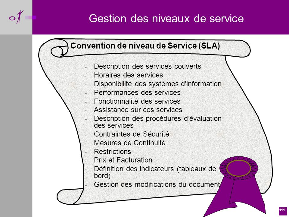 Gestion des niveaux de service