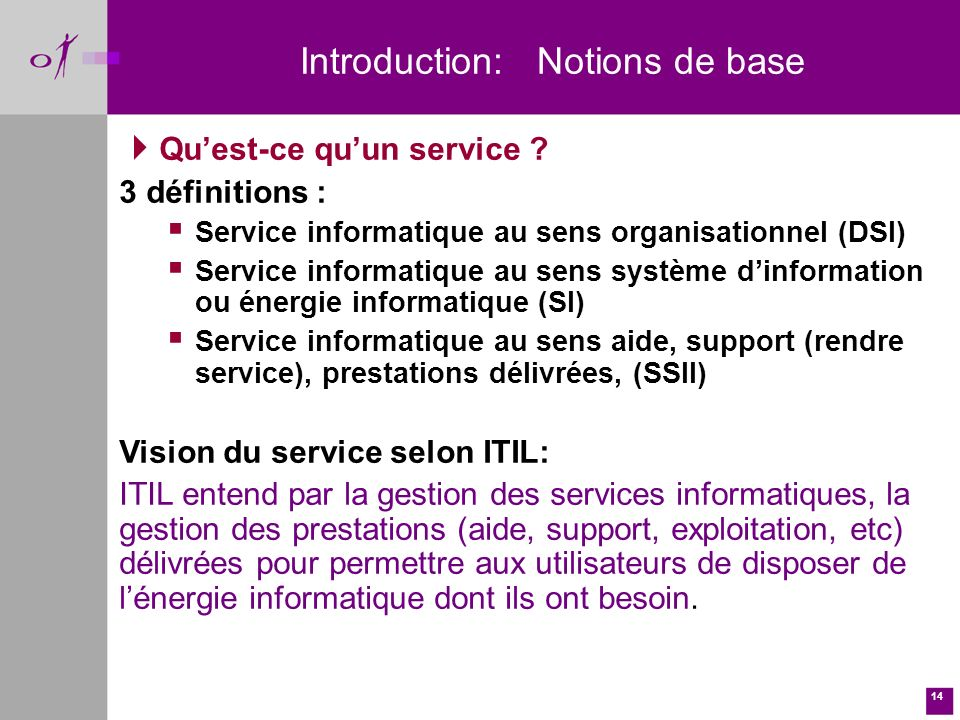 Introduction: Notions de base