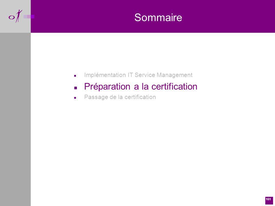 Sommaire Préparation a la certification