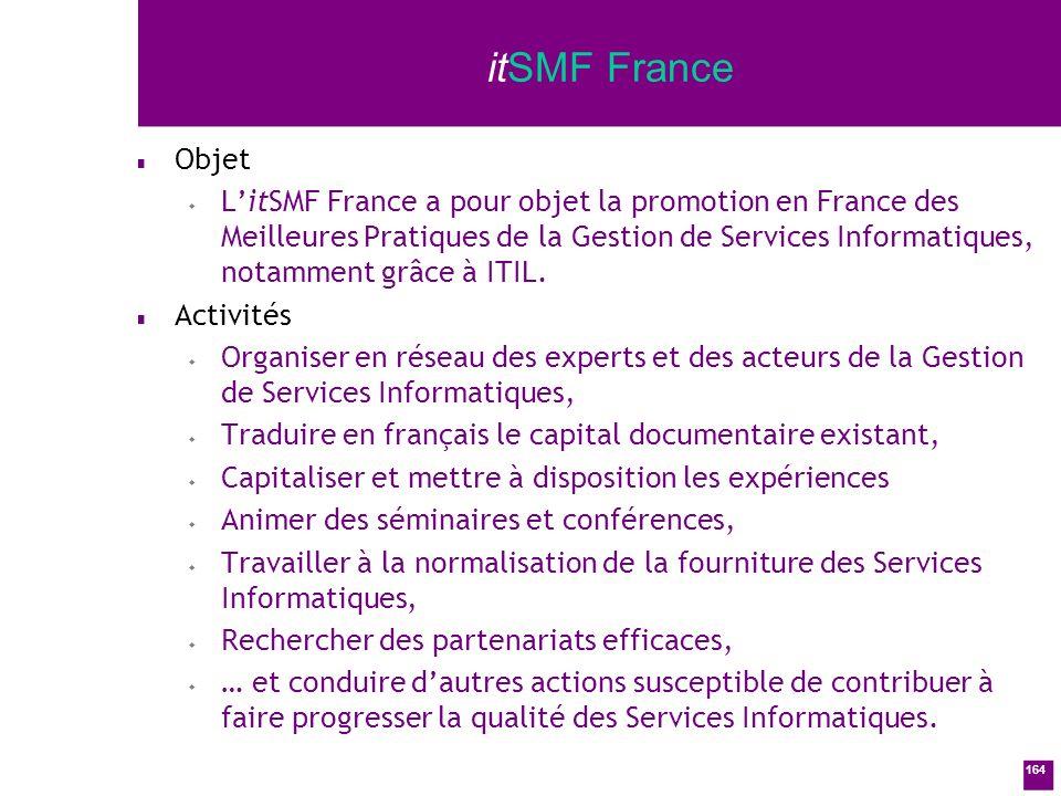 itSMF France Objet.