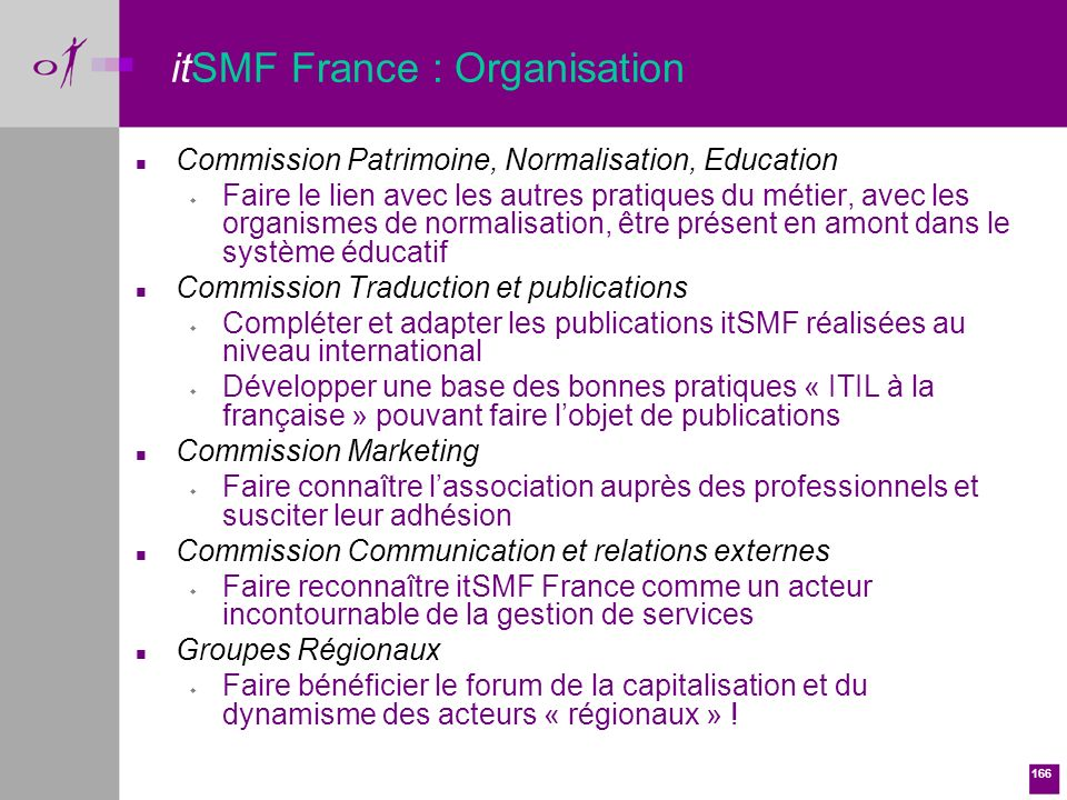 itSMF France : Organisation