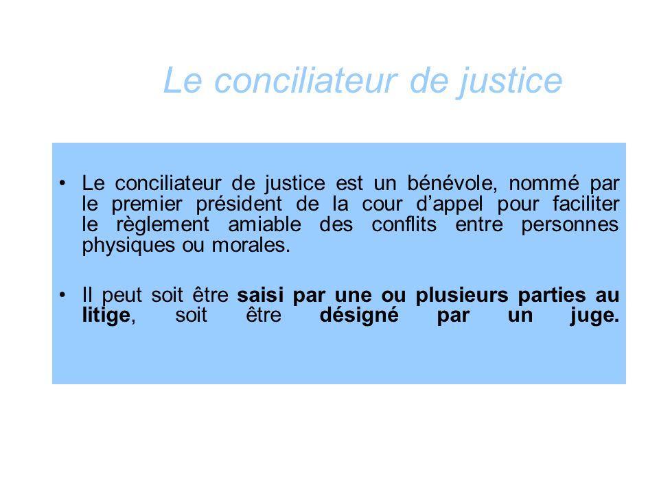 Le conciliateur de justice
