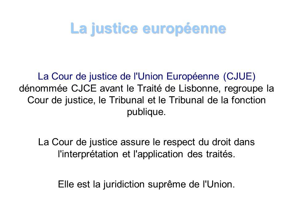 Elle est la juridiction suprême de l Union.