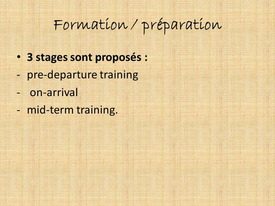 Formation / préparation