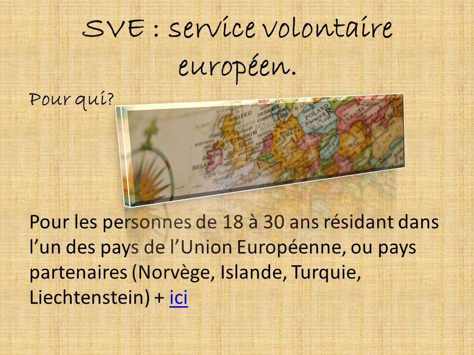 SVE : service volontaire européen.