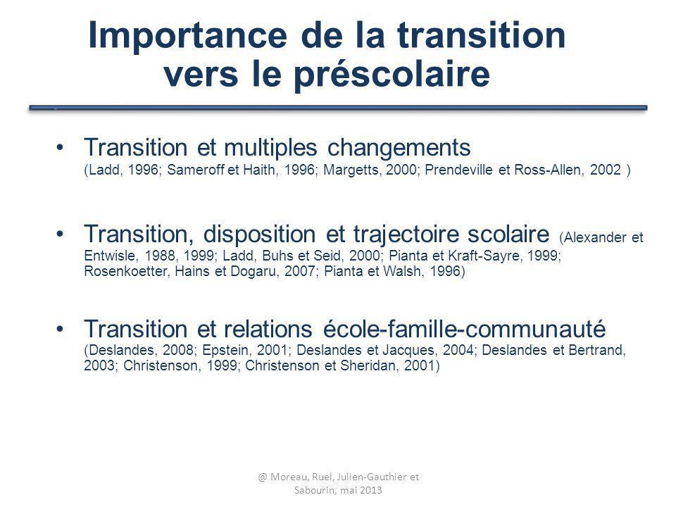 Importance de la transition vers le préscolaire