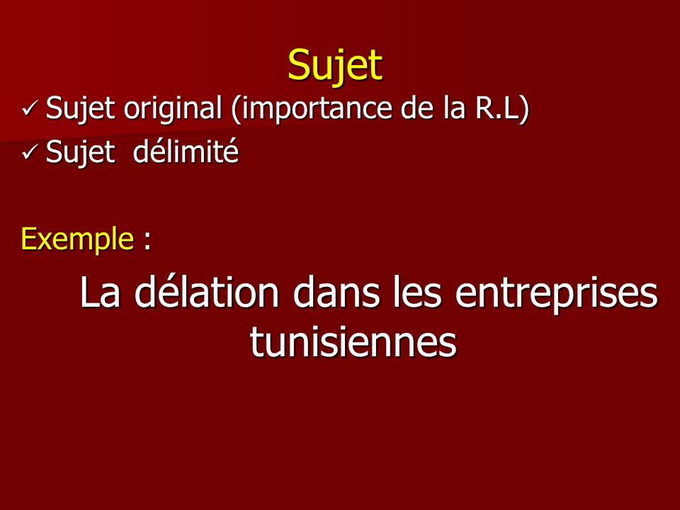 La délation dans les entreprises tunisiennes