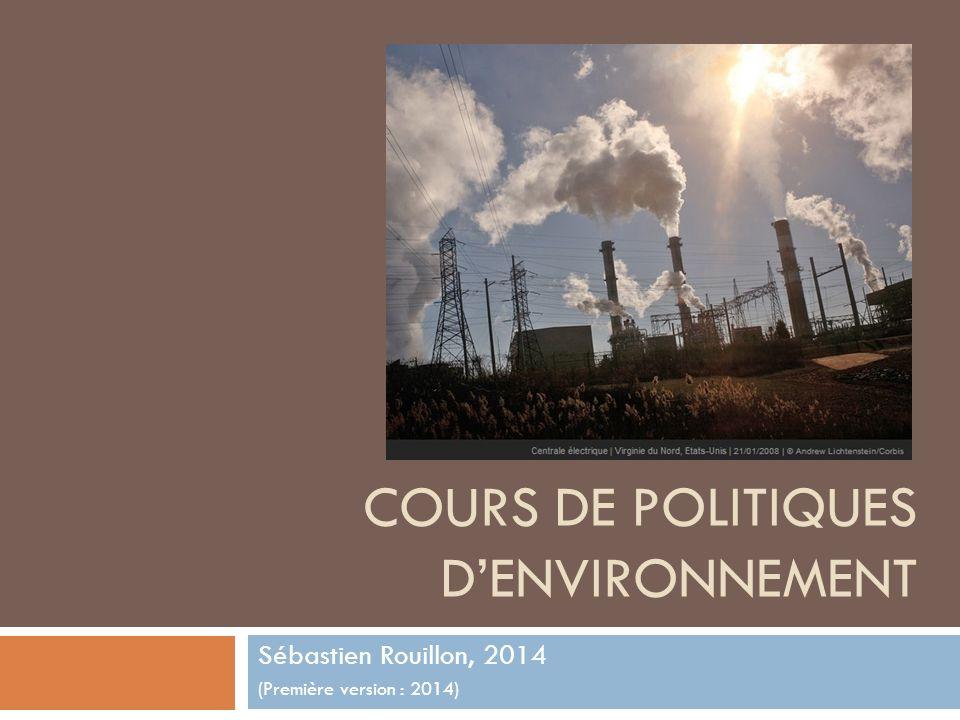 Cours de politiques d'environnement