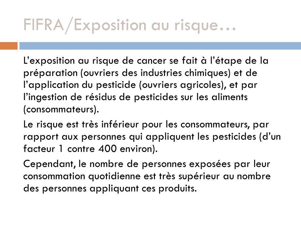 FIFRA/Exposition au risque…