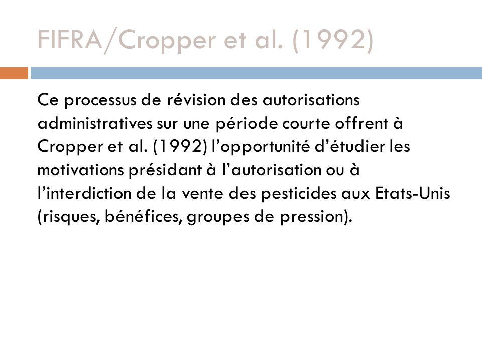 FIFRA/Cropper et al. (1992)
