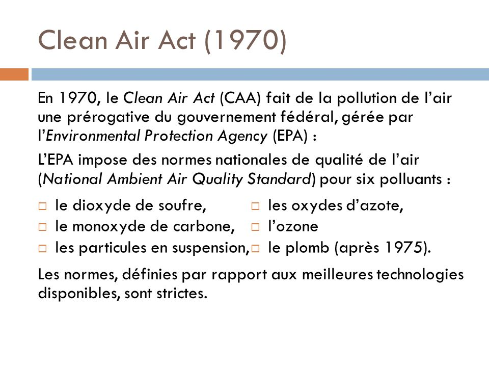 Clean Air Act (1970)