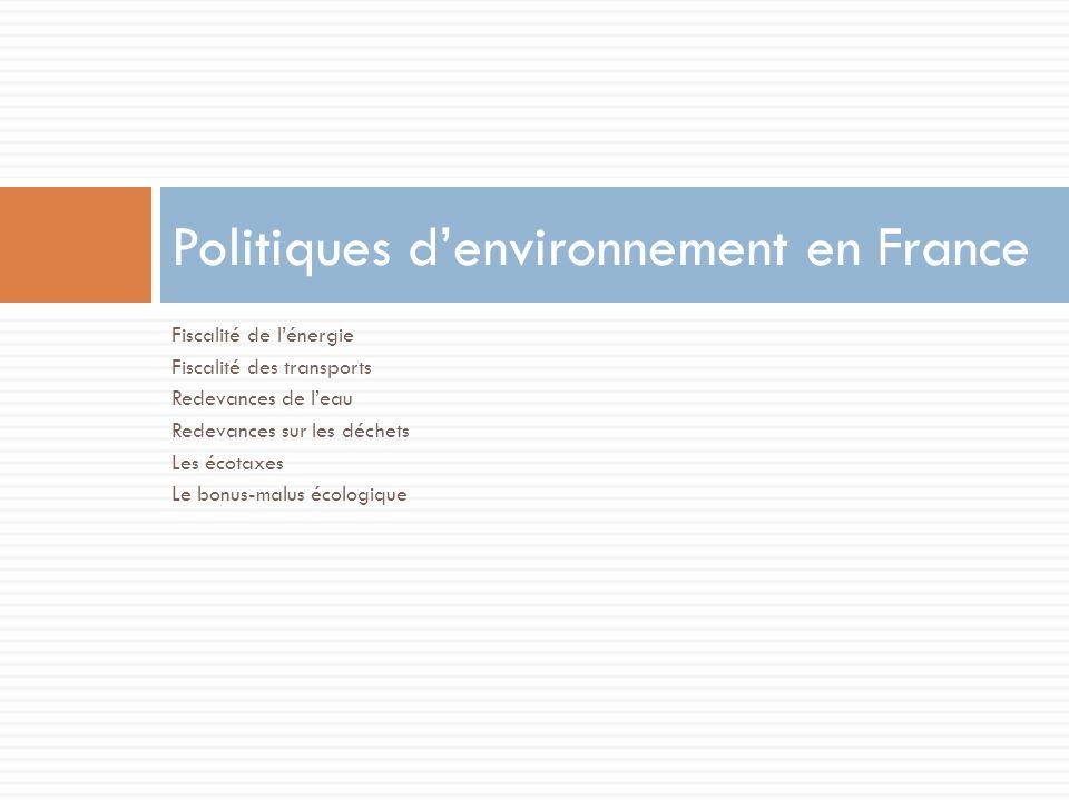 Politiques d'environnement en France