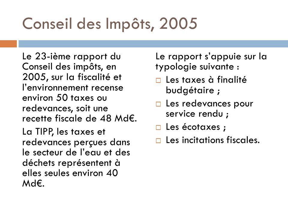 Conseil des Impôts, 2005