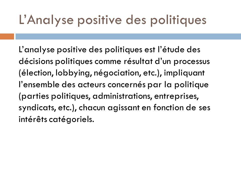 L'Analyse positive des politiques
