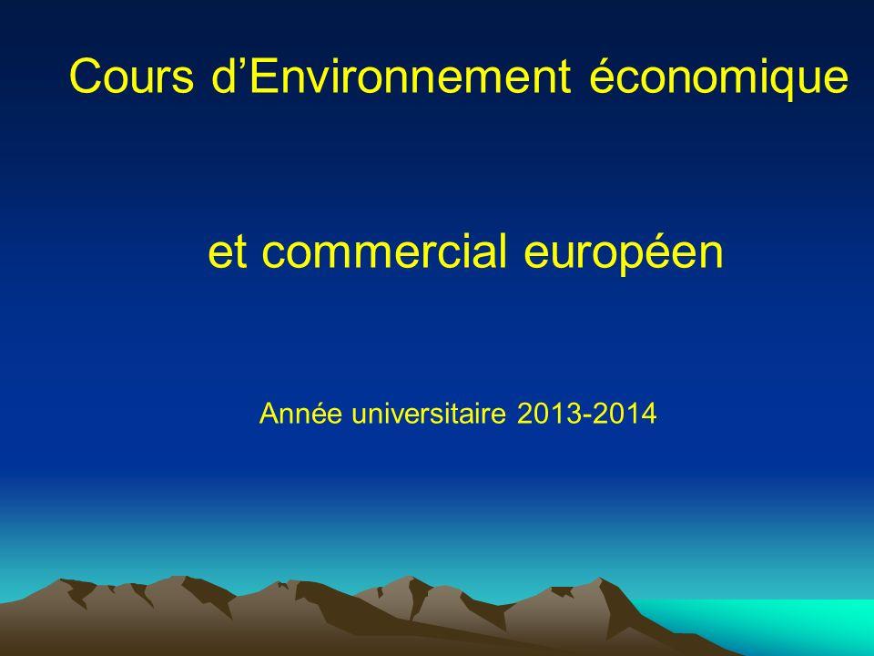 Cours d'Environnement économique