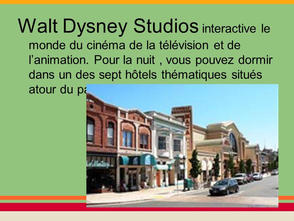 Walt Dysney Studios interactive le monde du cinéma de la télévision et de l'animation.