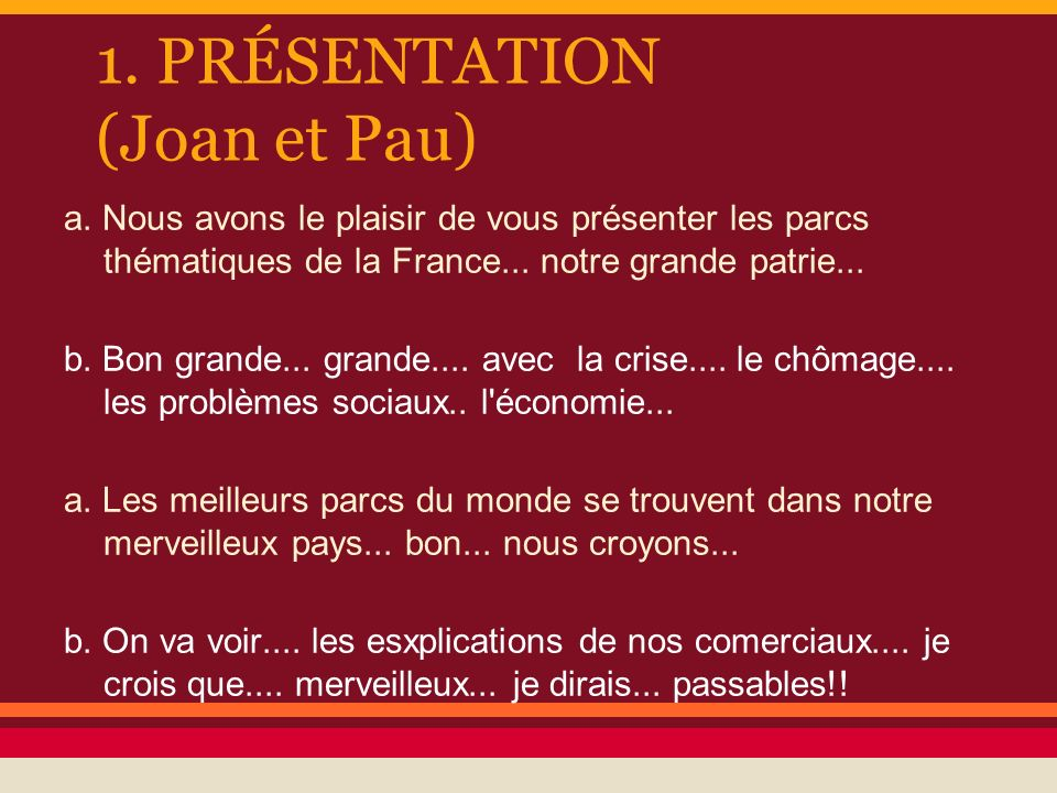 1. PRÉSENTATION (Joan et Pau)