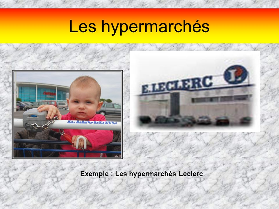 Exemple : Les hypermarchés Leclerc