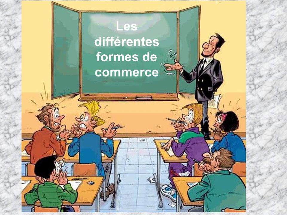 Les différentes formes de commerce