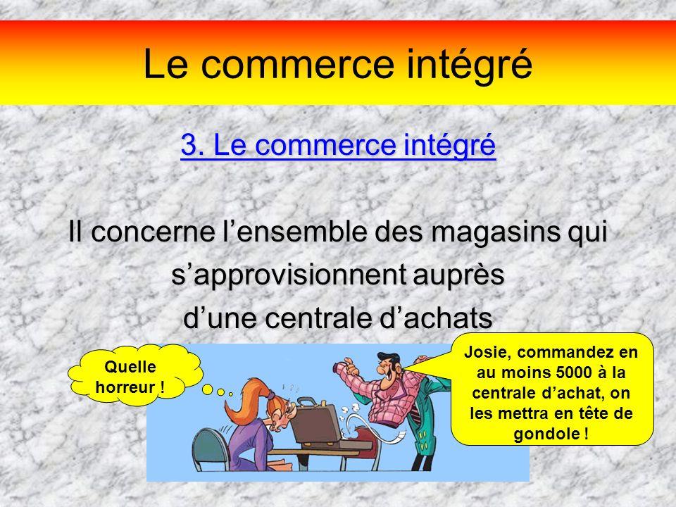 Le commerce intégré 3. Le commerce intégré