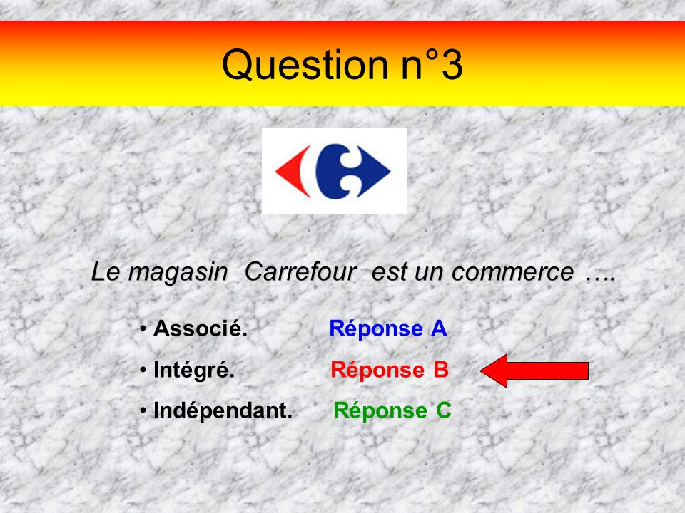 Le magasin Carrefour est un commerce ….