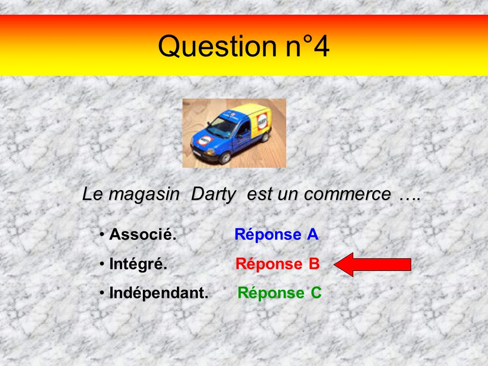 Le magasin Darty est un commerce ….