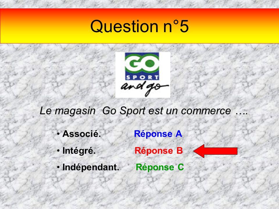 Le magasin Go Sport est un commerce ….