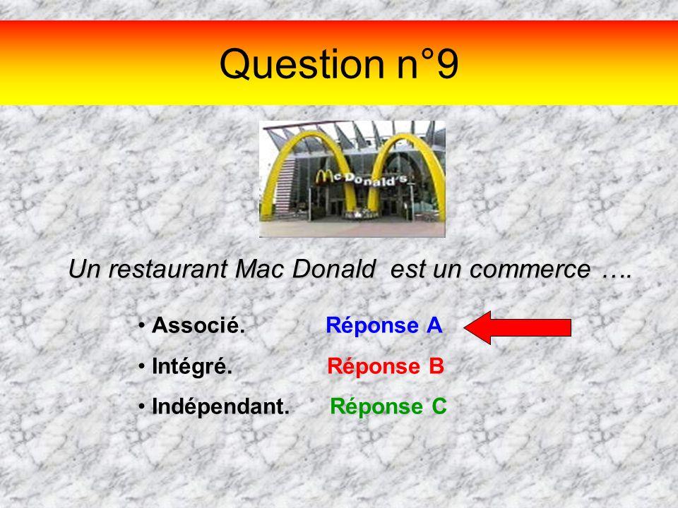 Un restaurant Mac Donald est un commerce ….