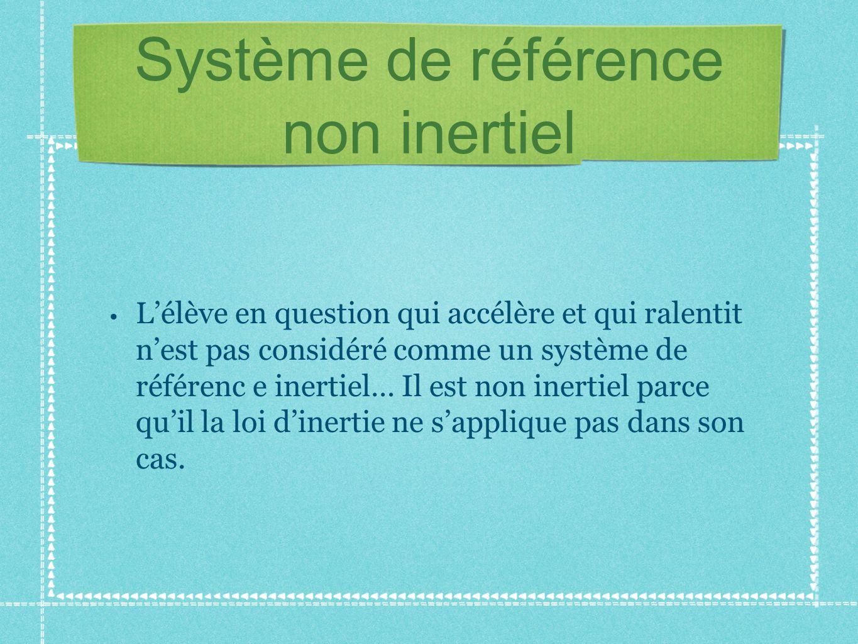 Système de référence non inertiel