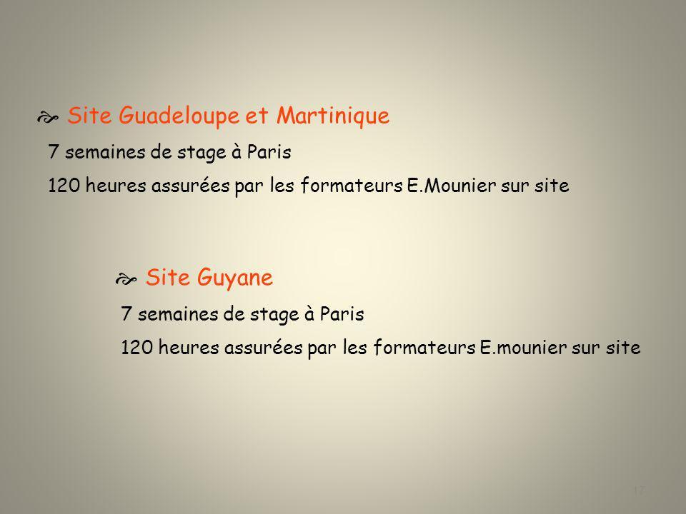  Site Guadeloupe et Martinique