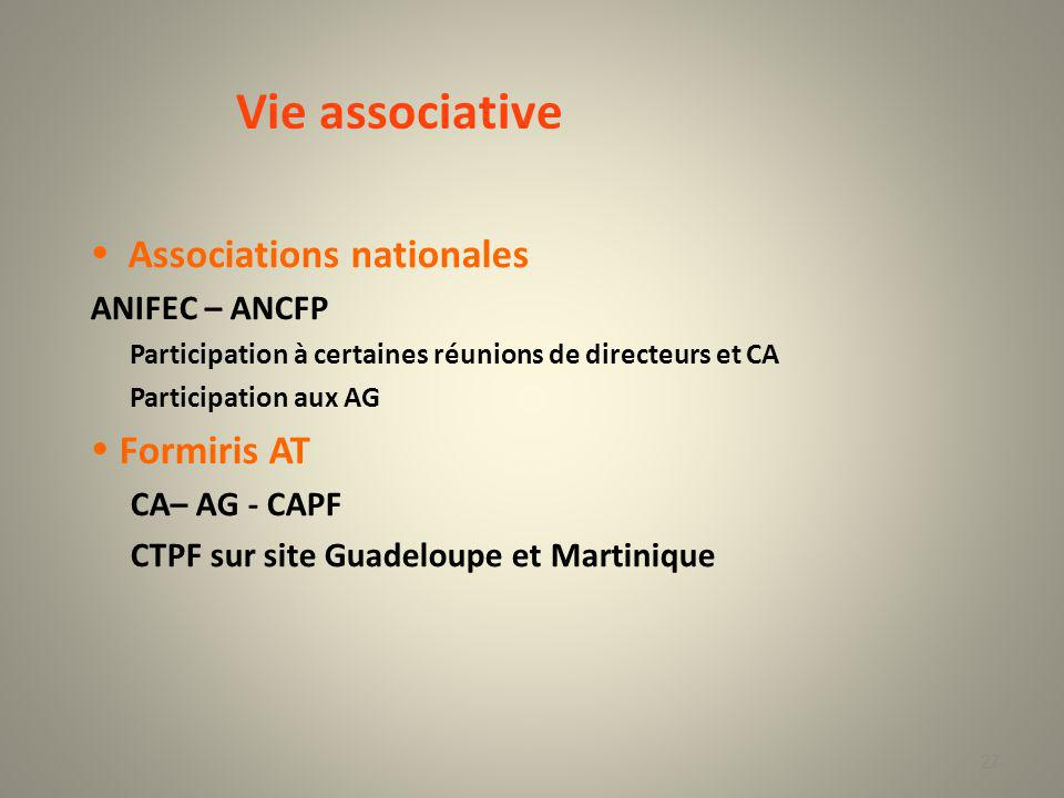 Vie associative  Associations nationales  Formiris AT ANIFEC – ANCFP