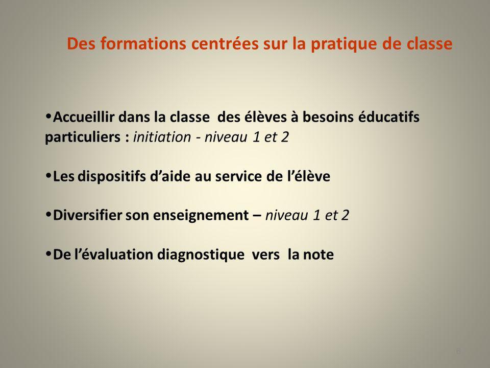 Des formations centrées sur la pratique de classe