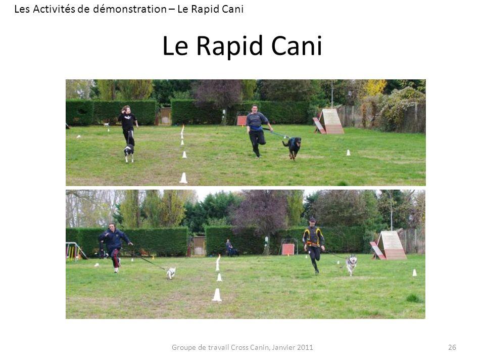 Le Rapid Cani Les Activités de démonstration – Le Rapid Cani