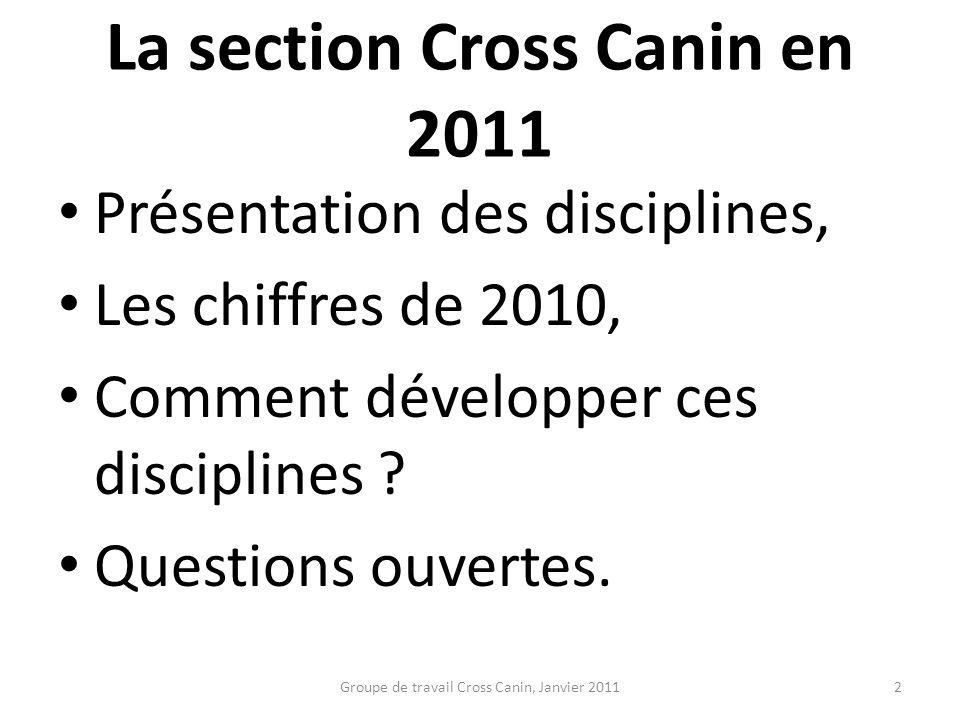 La section Cross Canin en 2011