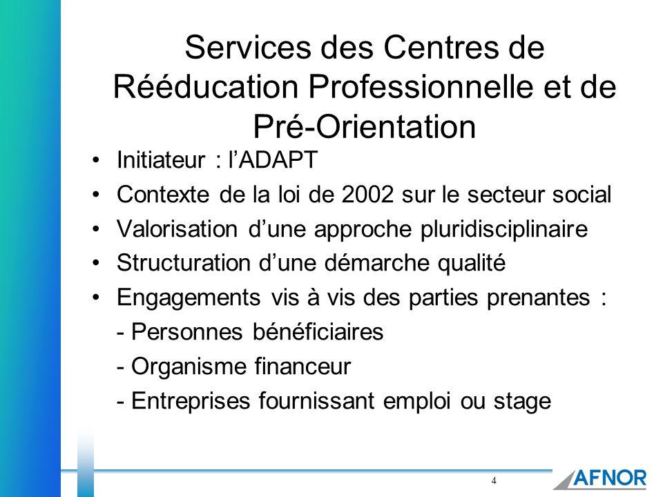 Services des Centres de Rééducation Professionnelle et de Pré-Orientation