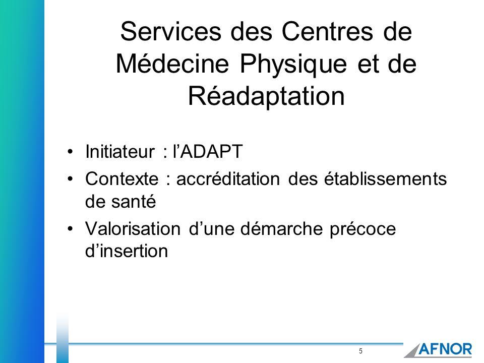 Services des Centres de Médecine Physique et de Réadaptation