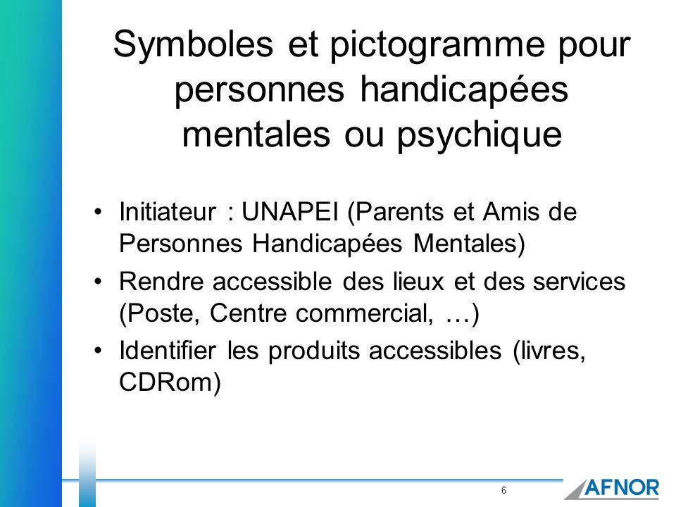 Symboles et pictogramme pour personnes handicapées mentales ou psychique