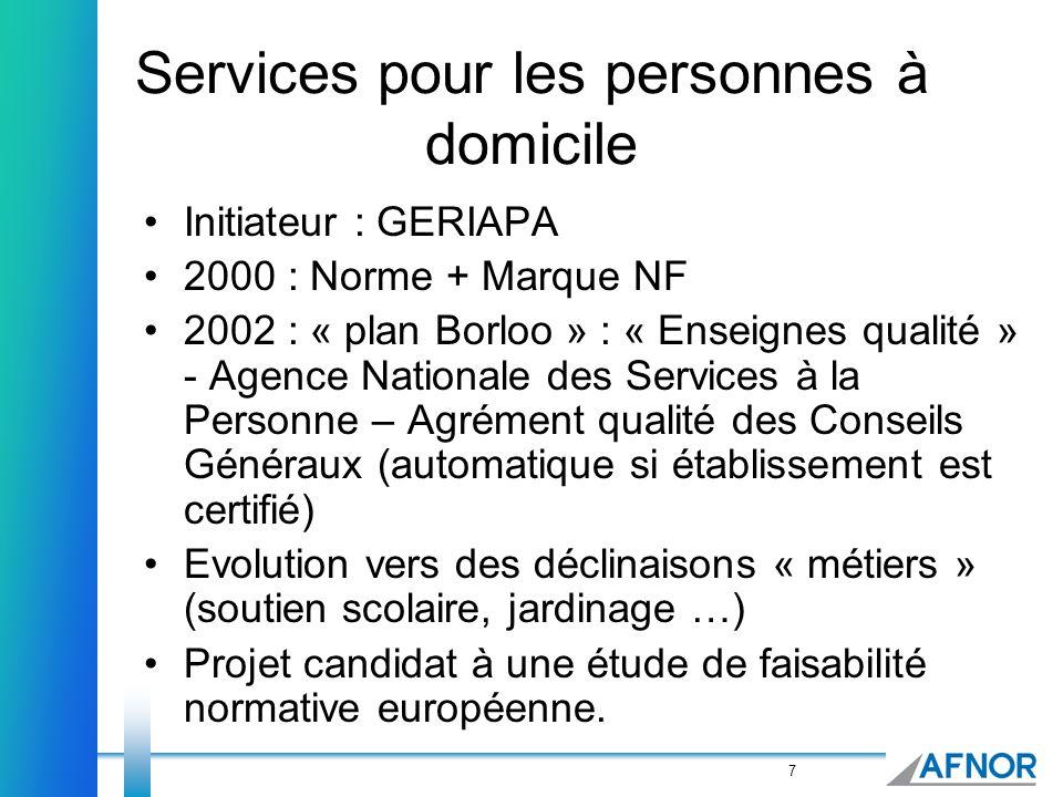Services pour les personnes à domicile
