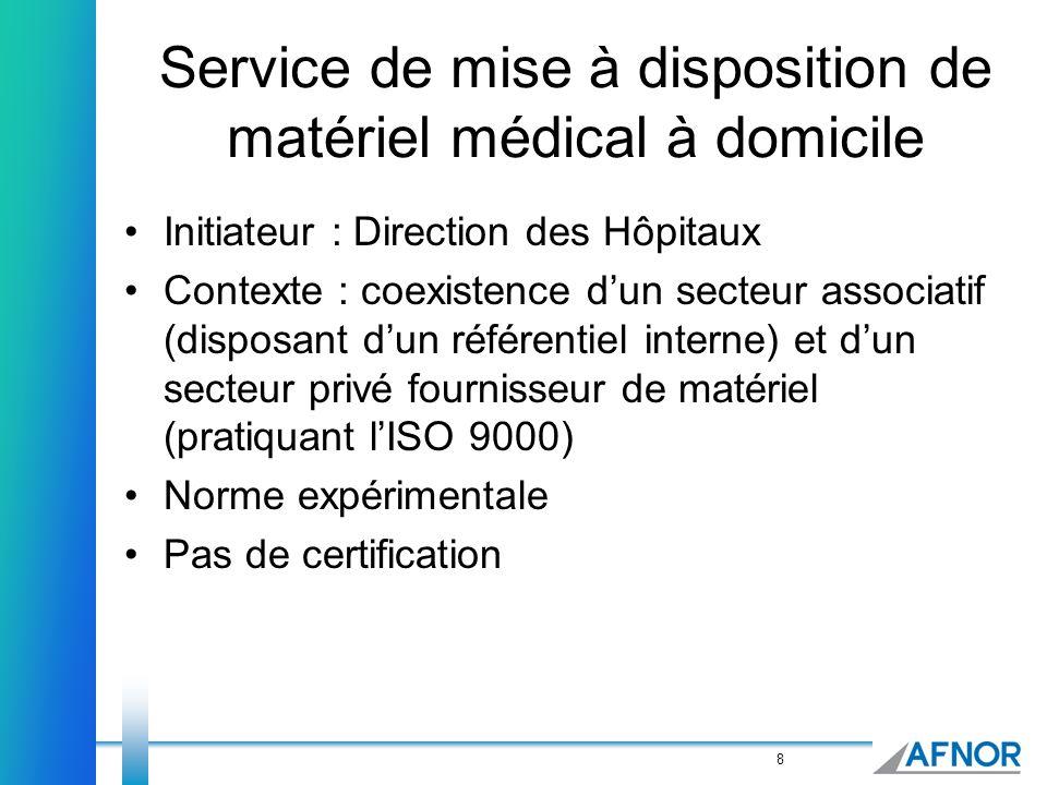 Service de mise à disposition de matériel médical à domicile