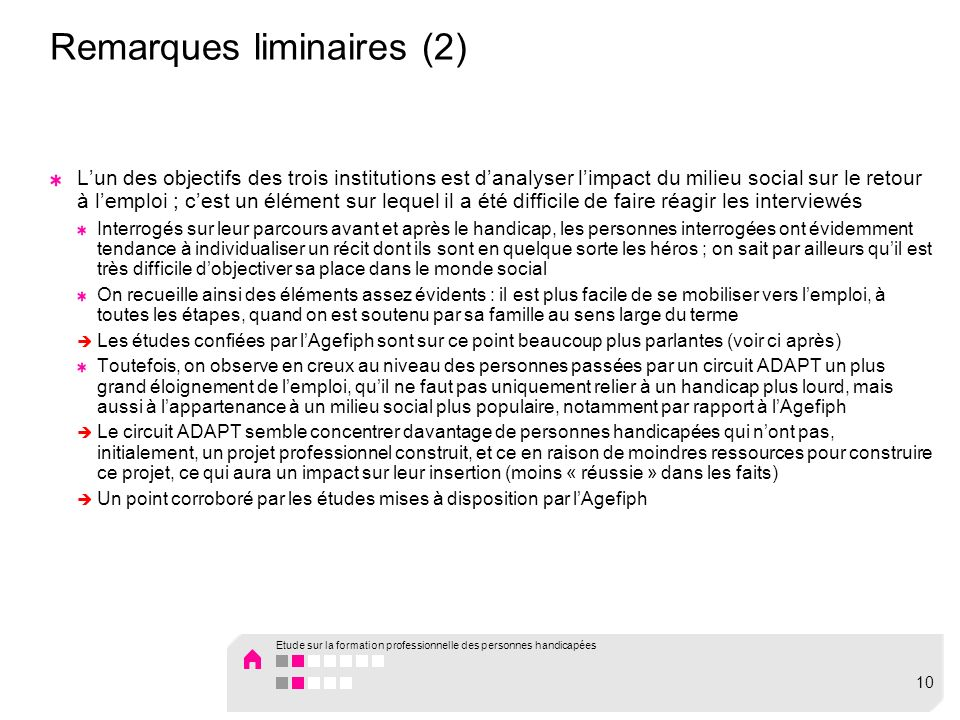 Remarques liminaires (2)