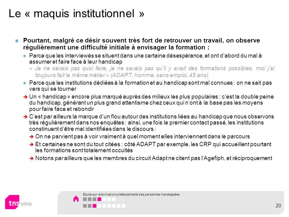 Le « maquis institutionnel »
