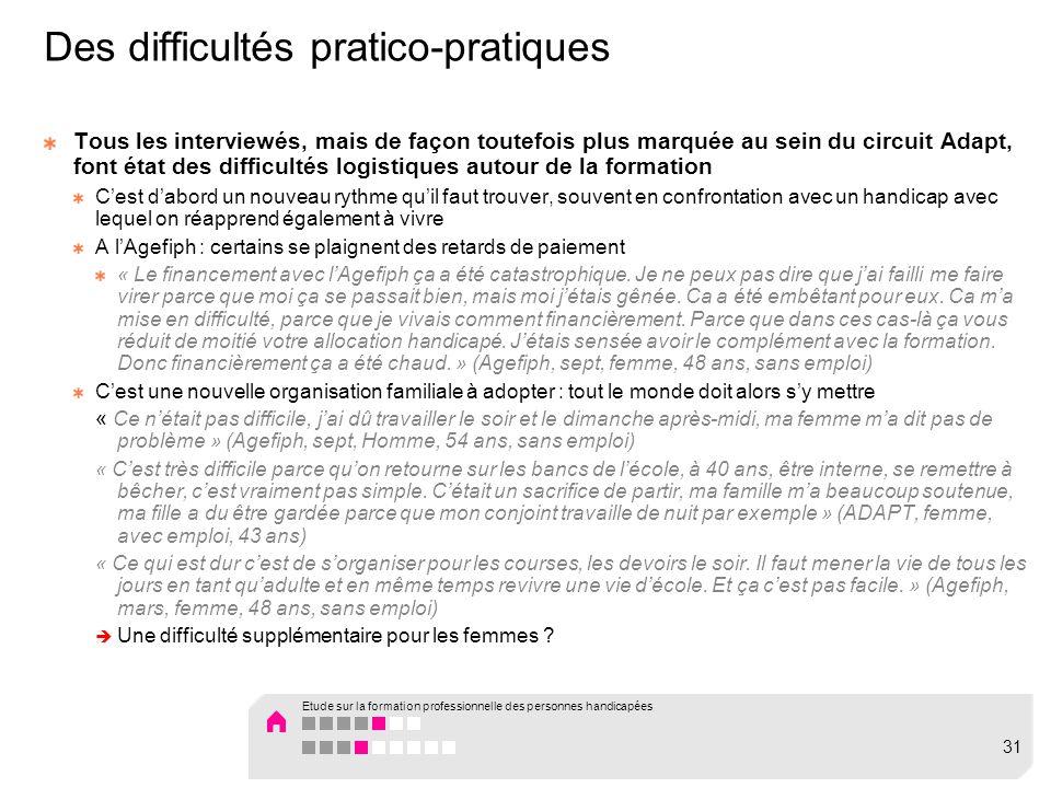Des difficultés pratico-pratiques