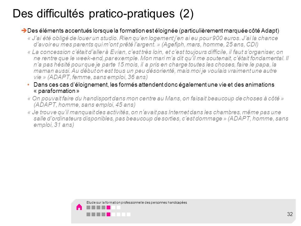 Des difficultés pratico-pratiques (2)