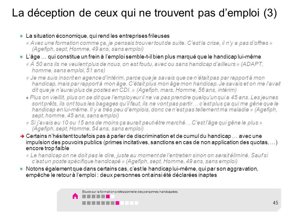 La déception de ceux qui ne trouvent pas d'emploi (3)