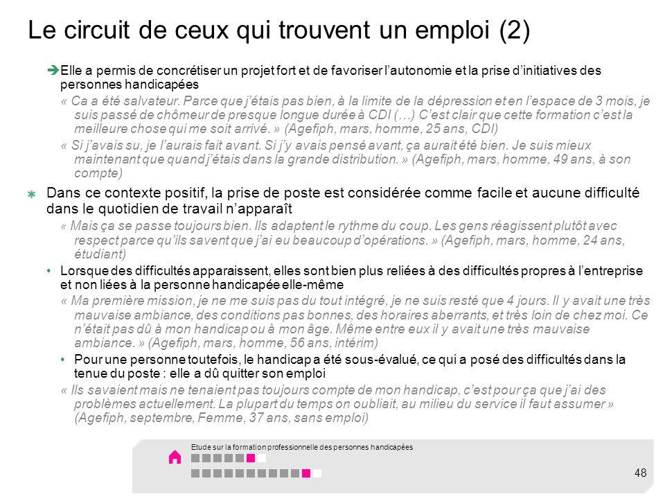 Le circuit de ceux qui trouvent un emploi (2)