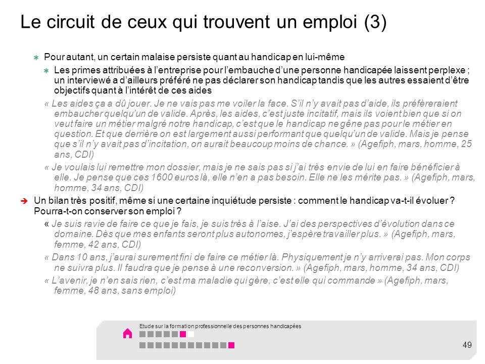 Le circuit de ceux qui trouvent un emploi (3)
