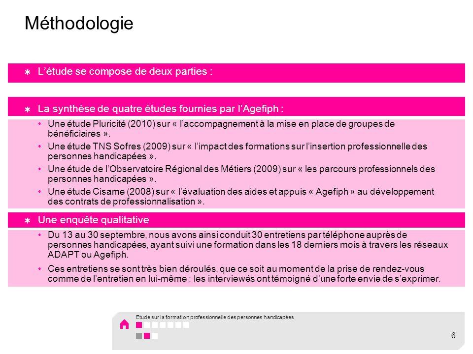 Méthodologie L'étude se compose de deux parties :
