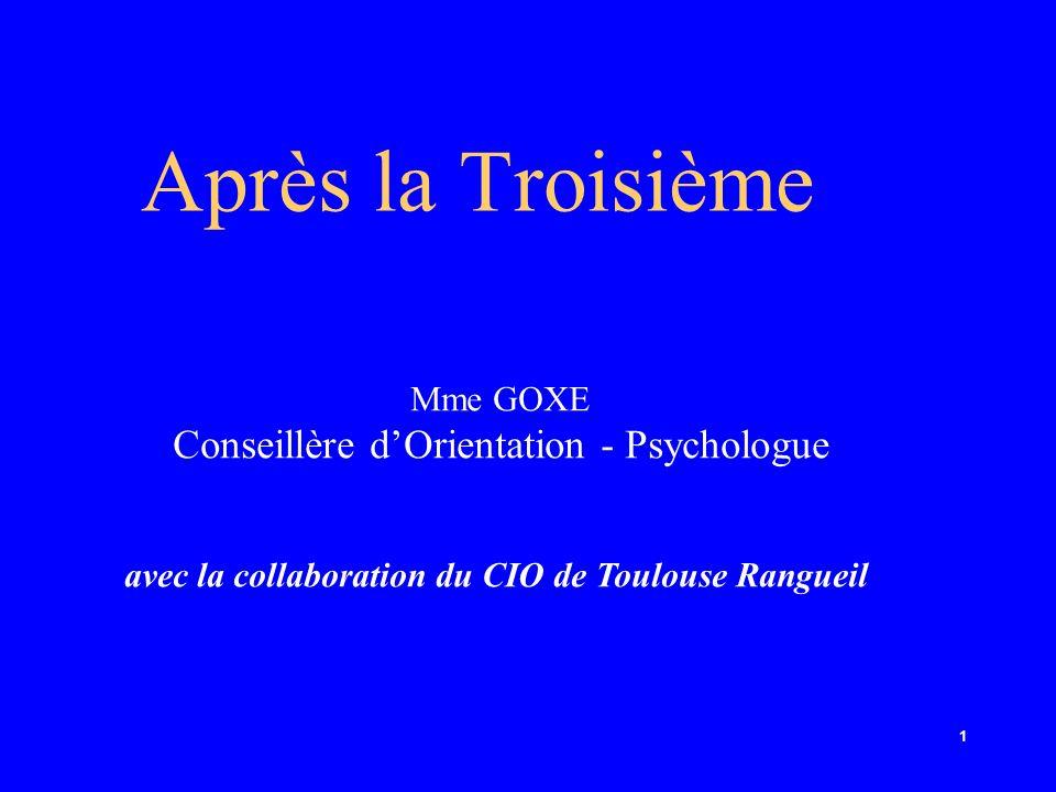 Conseillère d'Orientation - Psychologue